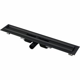 Водоотводящий желоб Alcaplast APZ101BLACK Low черный-матовый, горизонтальный выпуск, низкий купить за 14475 руб.