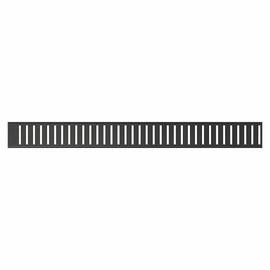Решетка для желоба AlcaPlast PURE-BLACK нержавеющая сталь, черный-матовый купить за 3622 руб.