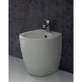 Биде напольное CERAMICA ALA/WAVE, 350х510 мм, декор волна/белый (шт.) купить за 0 руб.