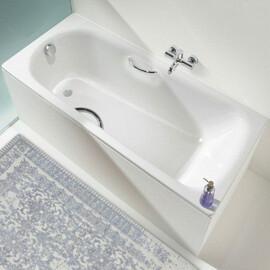 Стальная ванна Kaldewei Saniform Plus Star 170x75 с отверстиями под ручки и easy-clean купить за 36050 руб.
