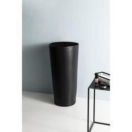 Керамическая напольная раковина Gid Nb130bg черный графит купить за 34500 руб.