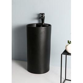 Керамическая напольная раковина Gid Nb135bg черный графит купить за 36250 руб.