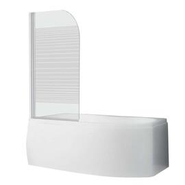 Шторка для ванны Roth SCREEN 750x1300 white/pattern/6mm купить за 14110 руб.