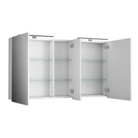 Зеркальный шкаф Diborg Lande 125 белый матовый купить за 15510 руб.