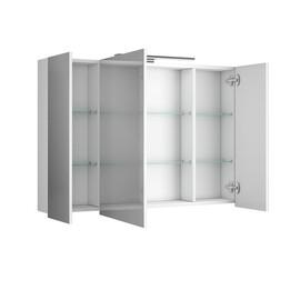 Зеркальный шкаф Diborg Lande 100 белый матовый купить за 11710 руб.
