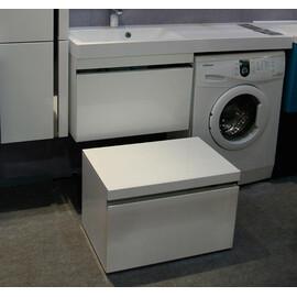 Тумба подвесная Lotos 120, под стиральную машину, с одним выдвижным ящиком + раковина правая/левая купить за 18400 руб.