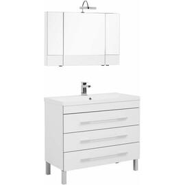 Мебель для ванной Aquanet Верона 100 белый (напольный 3 ящика) купить за 41567 руб.