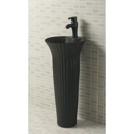 Керамическая напольная раковина Gid Nb132bg черный графит купить за 33050 руб.