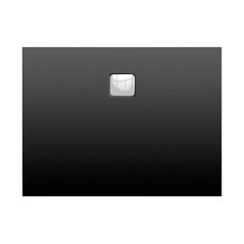 Акриловый душевой поддон Riho Basel 406 120x80 черный матовый, накладка хром DC161700000000S купить за 54556 руб.