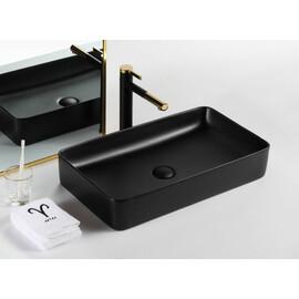 Черная матовая керамическая раковина Gid Bm9396 купить за 14500 руб.