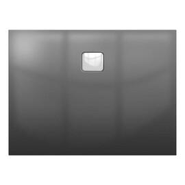 Акриловый душевой поддон Riho Basel 404 120x80 черный глянец, накладка хром DC141600000000S купить за 53728 руб.