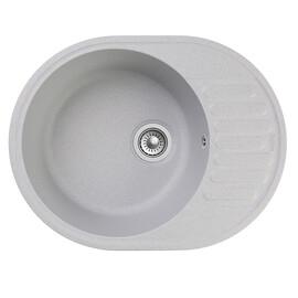 Мойка для кухни Raiber RQ34 круглая с крылом, цвет бетон купить за 4646 руб.