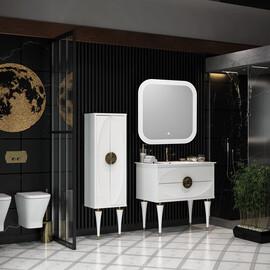 Мебель для ванной Opadiris Ибица 90, цвет белый/золото купить за 98210 руб.