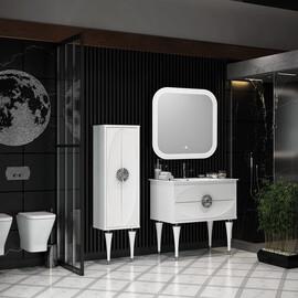 Мебель для ванной Opadiris Ибица 90, цвет белый/хром купить за 98210 руб.