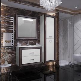 Мебель для ванной Opadiris Карат 80, цвет белый/серебро купить за 54124 руб.