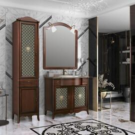 Мебель для ванной Opadiris Виктория 90 со столешницей, цвет светлый орех купить за 119140 руб.
