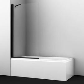 Стеклянная шторка на ванну WasserKRAFT Berkel 48P01-80 Black Fixed купить за 18390 руб.