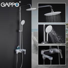 Душевая система для душа и ванны Gappo G2402-8 белый/хром купить за 15360 руб.