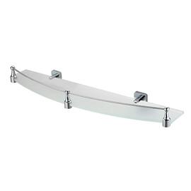 Полка стеклянная с бортиком WasserKRAFT Dill K-3944 купить за 2590 руб.