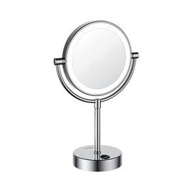 Зеркало с LED-подсветкой двухстороннее, стандартное и с 3-х кратным увеличением WasserKRAFT K-1005 купить за 7890 руб.