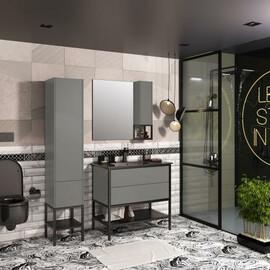 Мебель для ванной Opadiris Треви 90, цвет серый купить за 56406 руб.