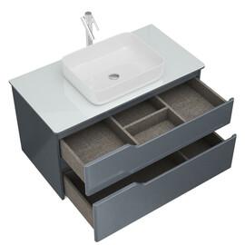 Мебель для ванной Alvaro Banos Armonia Cristal 100 серый лак купить за 26500 руб.