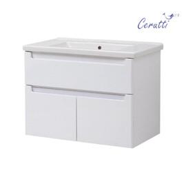 """Мебель для ванной Ceruttispa тумба Пьемонт 80 подвесная №2 с умывальником """"Кантэ 80"""" купить за 20700 руб."""