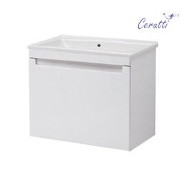 """Мебель для ванной Ceruttispa тумба Пьемонт 55 подвесная с умывальником """"Кредо 55"""" купить за 15700 руб."""