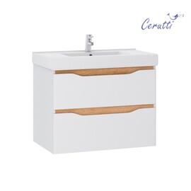"""Мебель для ванной Ceruttispa тумба Алессандрия подвесная 80 с умывальником """"Кантэ 80"""" купить за 25400 руб."""