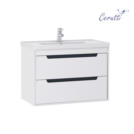 """Мебель для ванной Ceruttispa тумба Мессина подвесная 60 с умывальником """"Кантэ 60"""" купить за 22600 руб."""