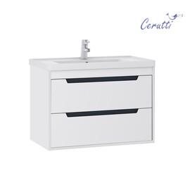"""Мебель для ванной Ceruttispa тумба Мессина подвесная 70 с умывальником """"Кантэ 70"""" купить за 24150 руб."""