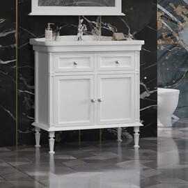 Мебель для ванной Opadiris Кантара 85, цвет белый матовый купить за 52360 руб.