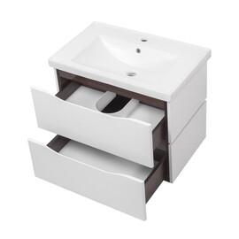 """Мебель для ванной Ceruttispa тумба Сицилия 70 подвесная с умывальником """"Кантэ 70"""" купить за 23650 руб."""