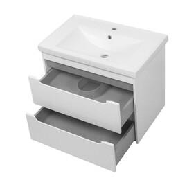 """Мебель для ванной Ceruttispa тумба Эмилия grey 70 подвесная с умывальником """"Кантэ 70"""" купить за 22550 руб."""