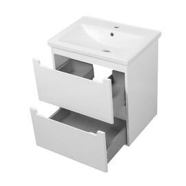 """Мебель для ванной Ceruttispa тумба Пьемонт 60 подвесная №2 с умывальником """"Кантэ 60"""" купить за 19400 руб."""