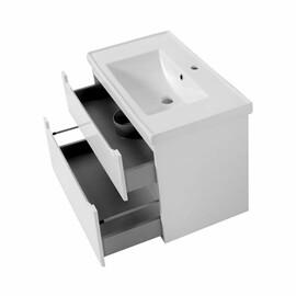 """Мебель для ванной Ceruttispa тумба Пьемонт 70 подвесная №2 с умывальником """"Кантэ 70"""" купить за 20800 руб."""