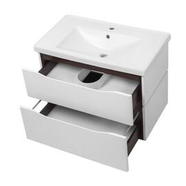 """Мебель для ванной Ceruttispa тумба Сицилия 80 подвесная с умывальником """"Кантэ 80"""" купить за 25400 руб."""