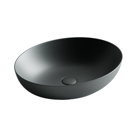 Умывальник чаша накладная овальная Ceramica Nova Element 520*395*130мм цвет темный антрацит матовый купить за 15590 руб.